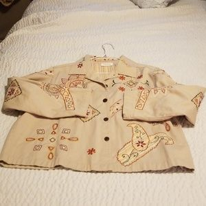 Embroidered jacket size large petite